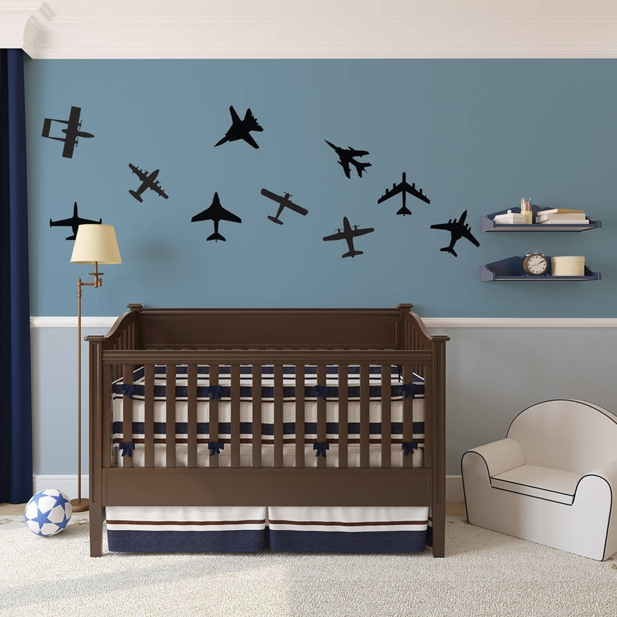 Current Airplanes Wall Art Decal Pack For Kidsvinyl Revolution Throughout Airplane Wall Art (Gallery 8 of 20)