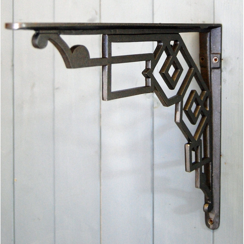 Current Art Deco Cast Metal Wall And Shelf Bracket For Art Deco Wall Art (View 11 of 20)