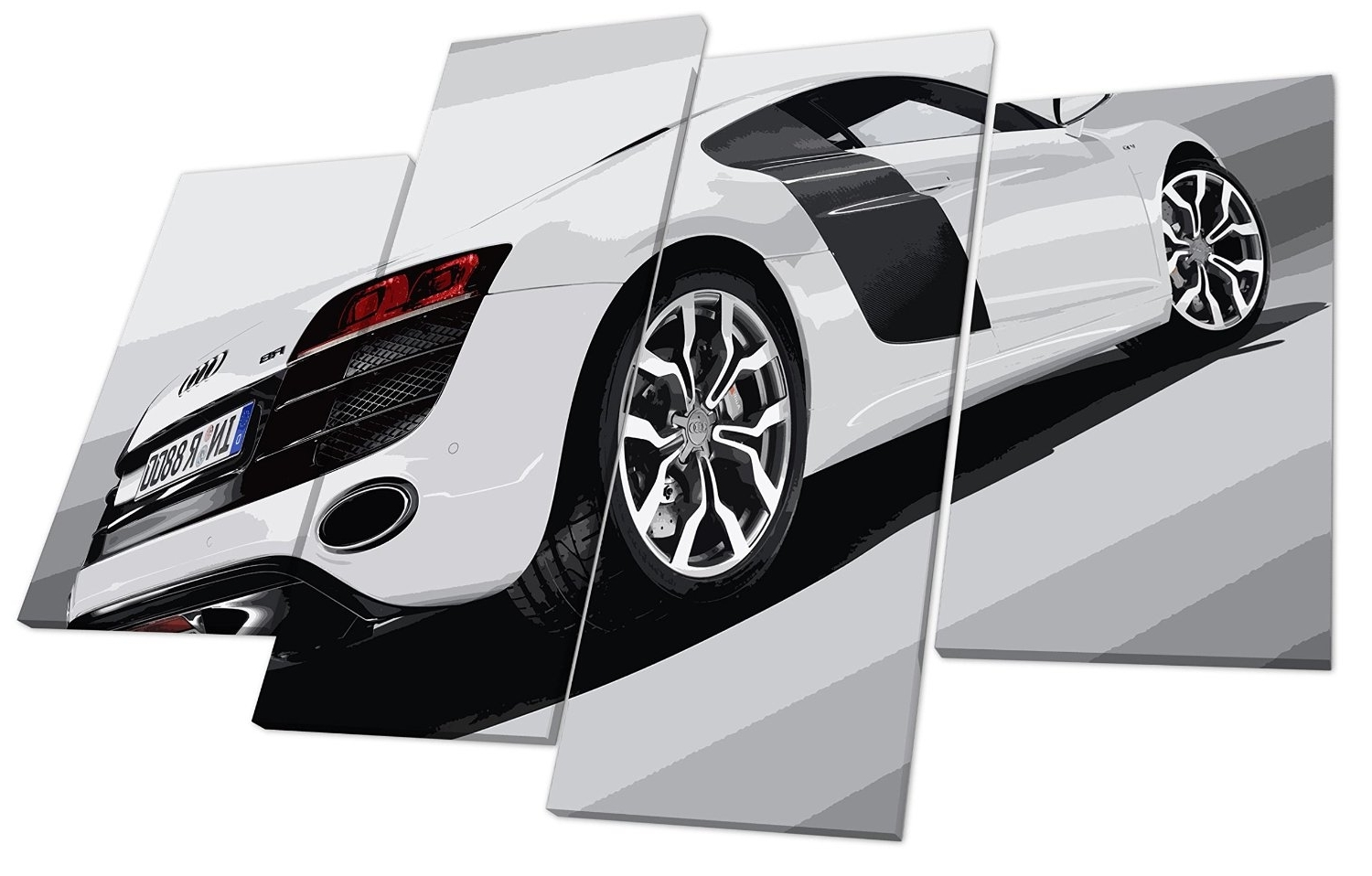 Current Audi R8 Super Car Canvas Wall Art Picture ~ Audi Picture Gallery Intended For Car Canvas Wall Art (View 8 of 20)