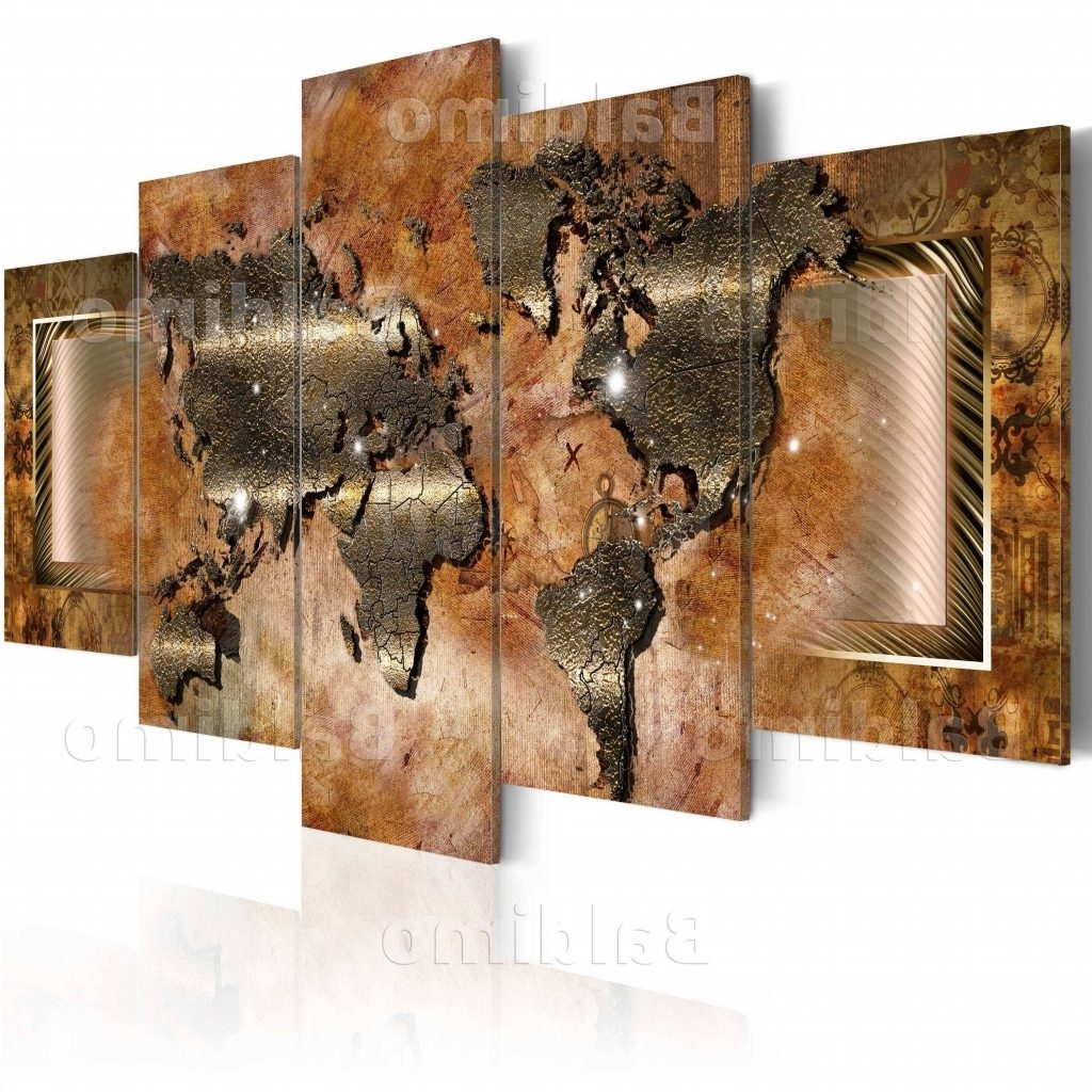 Current Canvas World Map Wall Art – Blogtipsworld Intended For World Map Wall Art Canvas (View 6 of 20)