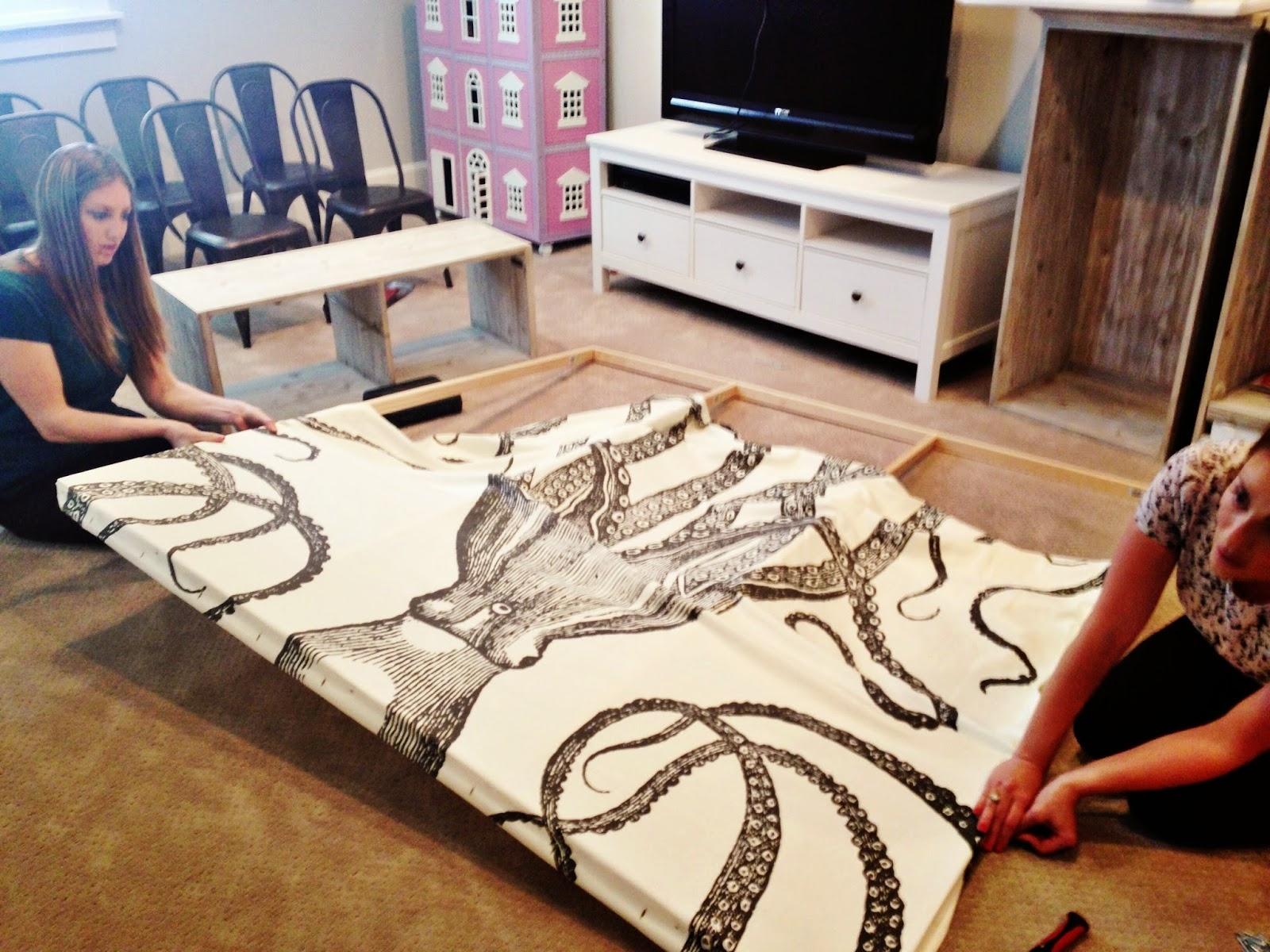Current Diy Octopus Art – House Of Jade Interiors Blog Throughout Shower Curtain Wall Art (Gallery 12 of 20)