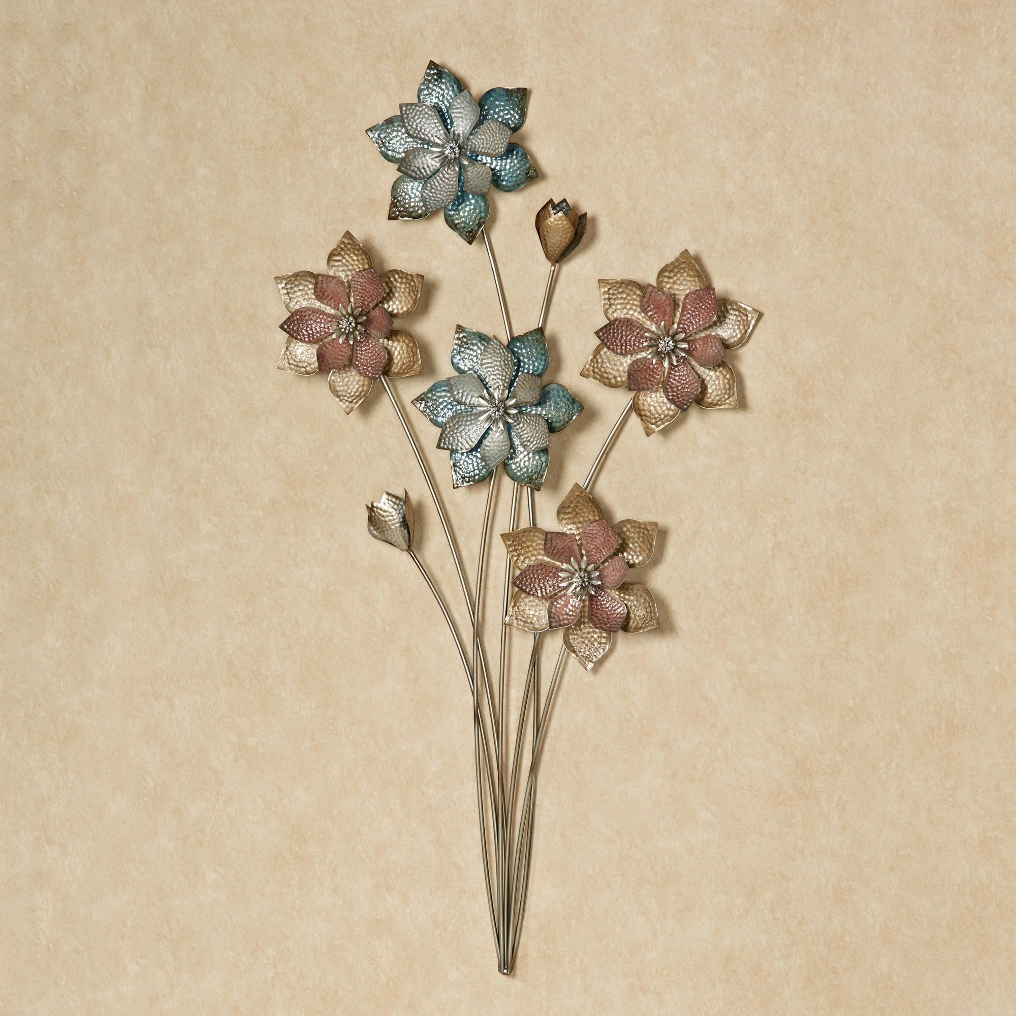 Current Metal Flower Wall Art With Regard To Evening Flowers Metal Wall Art (Gallery 14 of 15)