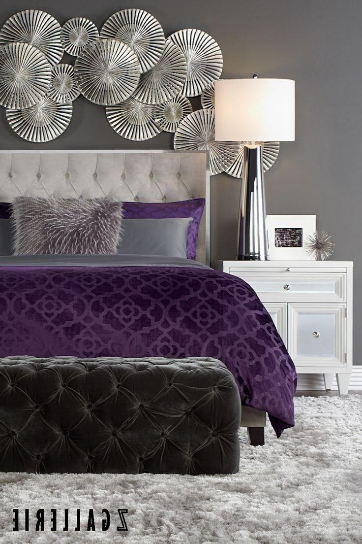 Current Purple And Grey Wall Art For 20 Best Collection Of Purple Wall Art For Bedroom Wall, Purple (View 6 of 20)