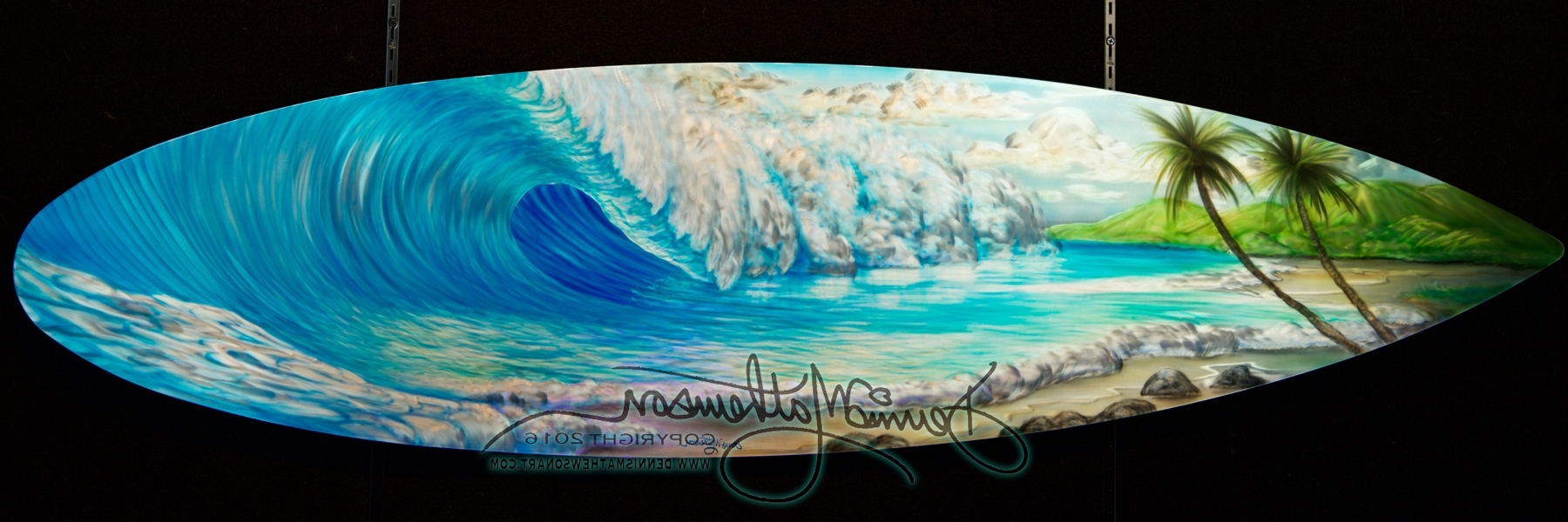 Current Surfboard Wall Art In Surfboard Wave #16 – Dennis Mathewson Art (View 2 of 20)