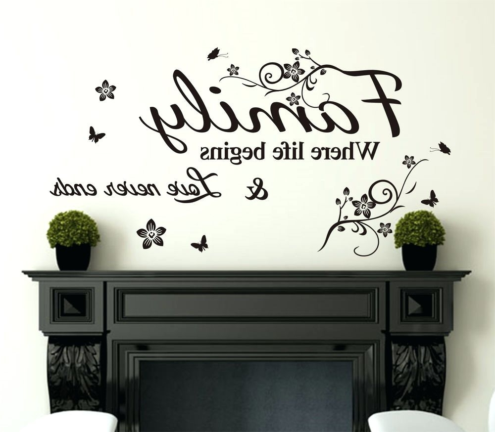Current Wall Art Sayings Regarding Wall Decoration (View 3 of 20)
