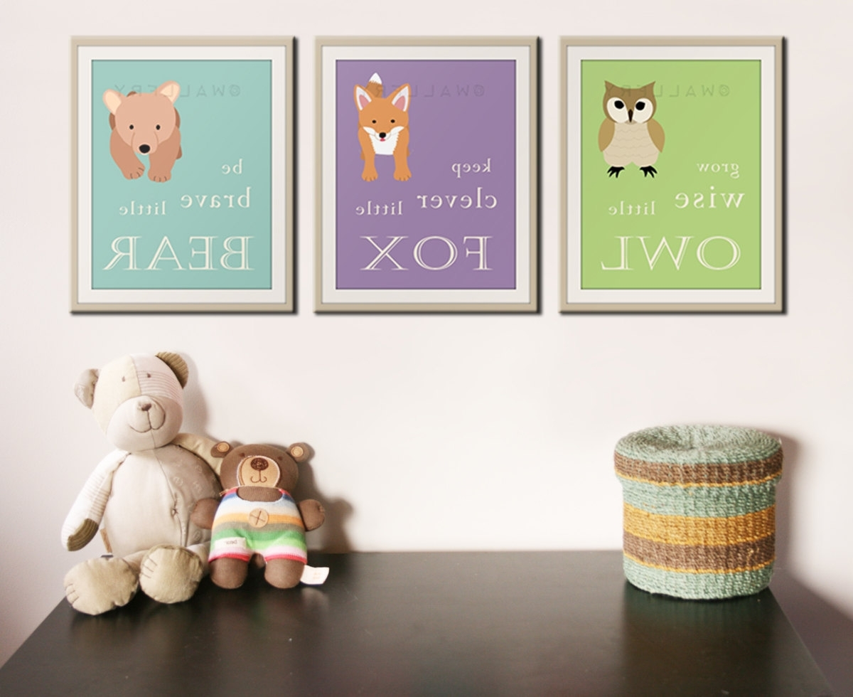 Current Woodland Nursery Decor Ideas : New Woodland Nursery Decor – Nursery For Woodland Nursery Wall Art (View 3 of 20)