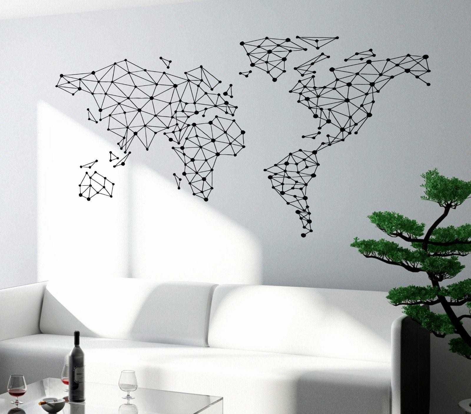 Current World Map Wall Art – World Maps Collection Within Maps Wall Art (Gallery 6 of 20)