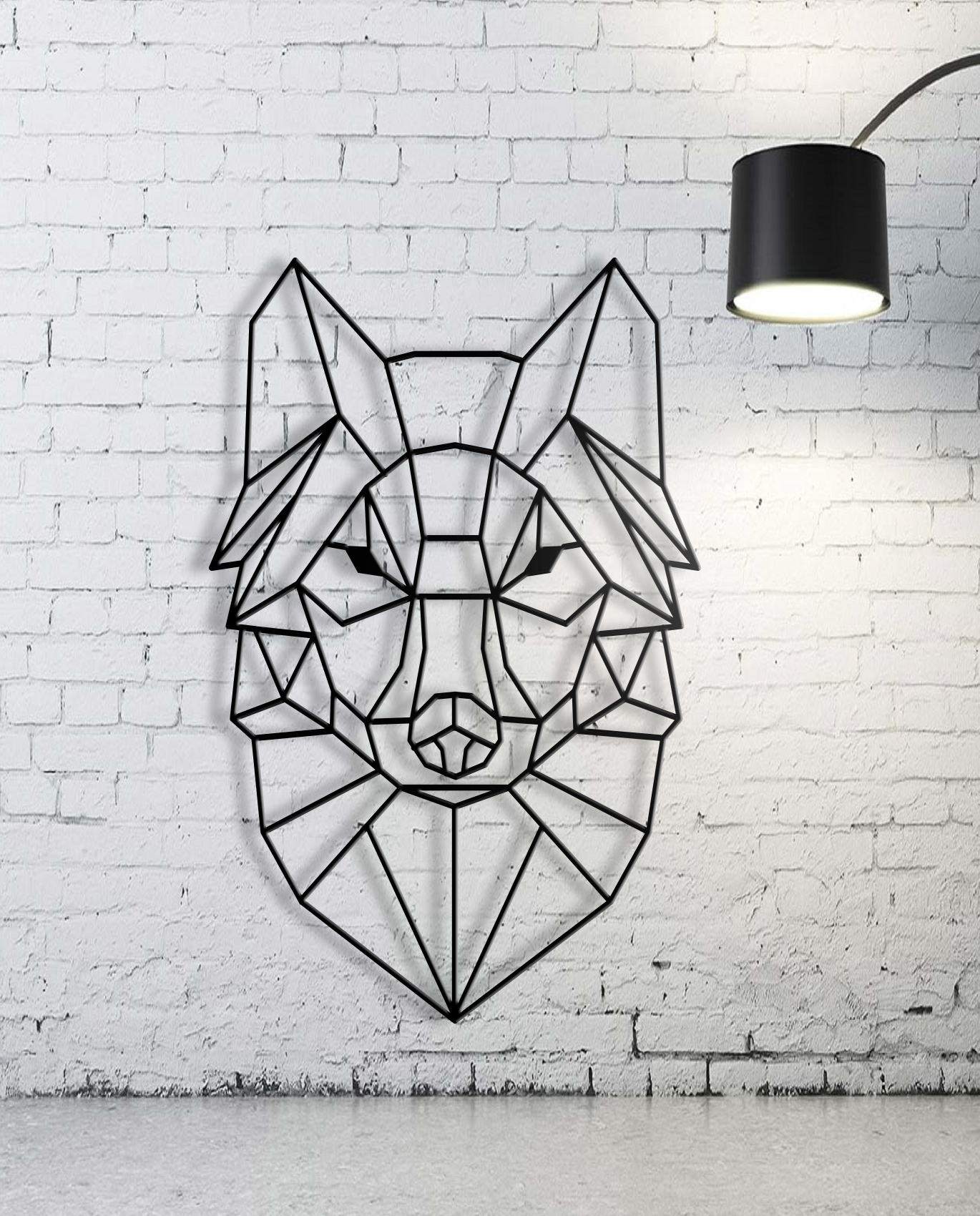 Custom Animal Geometric Cute Geometric Wall Art – Wall Decoration Regarding Favorite Geometric Wall Art (View 4 of 20)