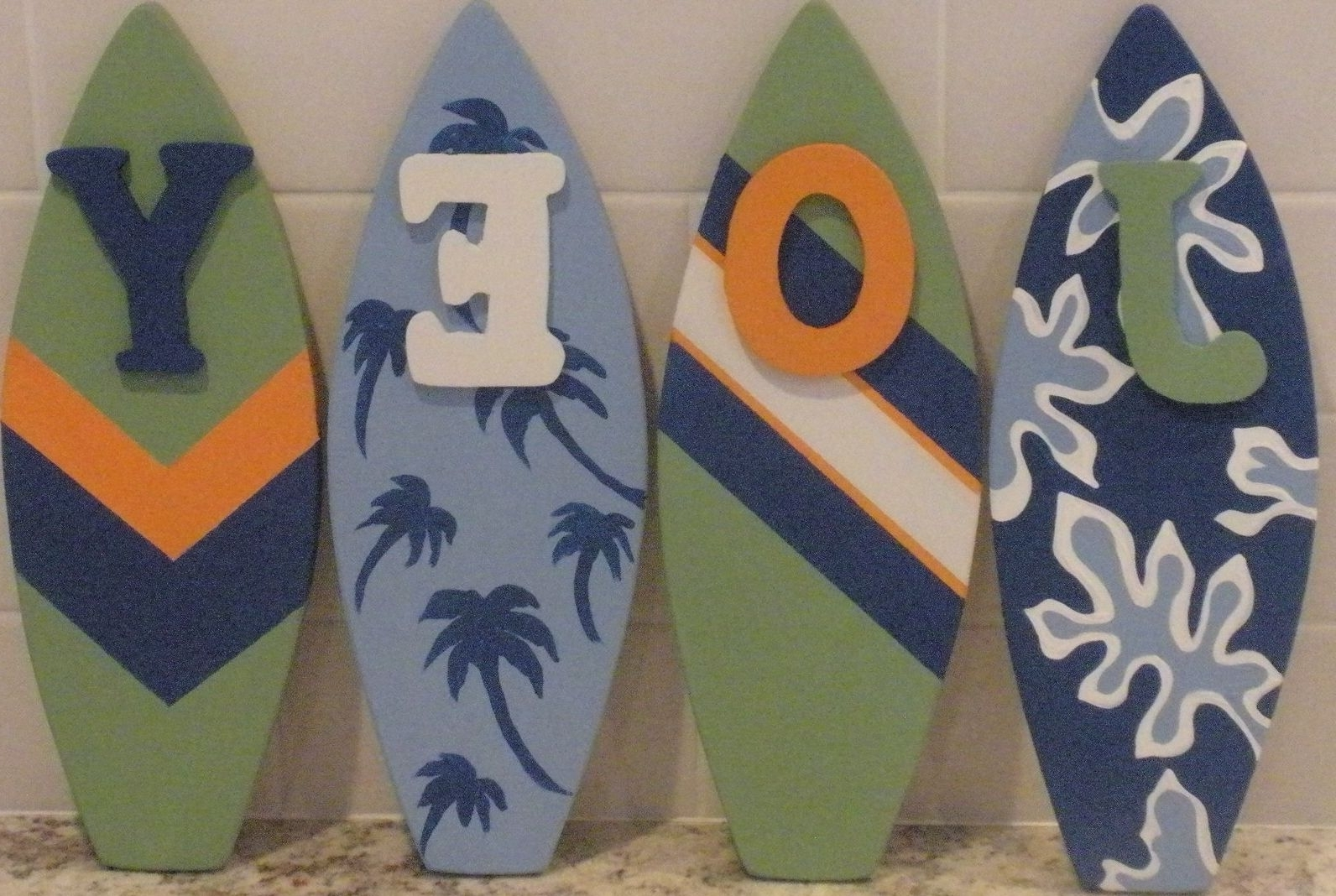 Custom Decorative Surfboard Wall Signs And Decor For Favorite Surfboard Wall Art (Gallery 17 of 20)