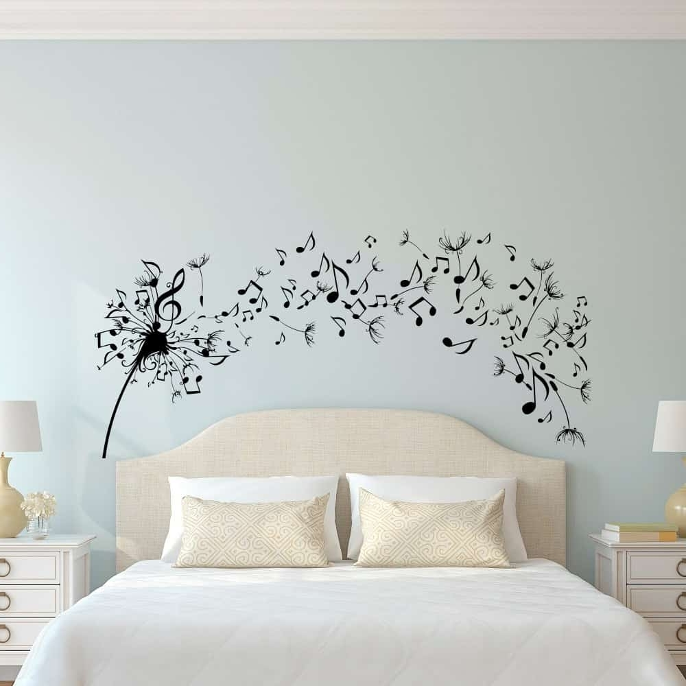Dandelion Wall Art For Well Known Simple Dandelion Wall Art Decal For Bedroom Design – Home Decor (Gallery 16 of 20)