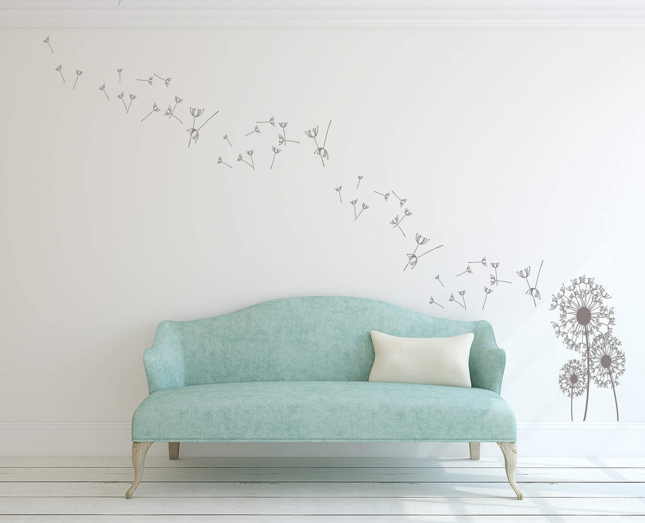 Dandelion Wall Decal Sticker In Dandelion Wall Art (View 7 of 20)