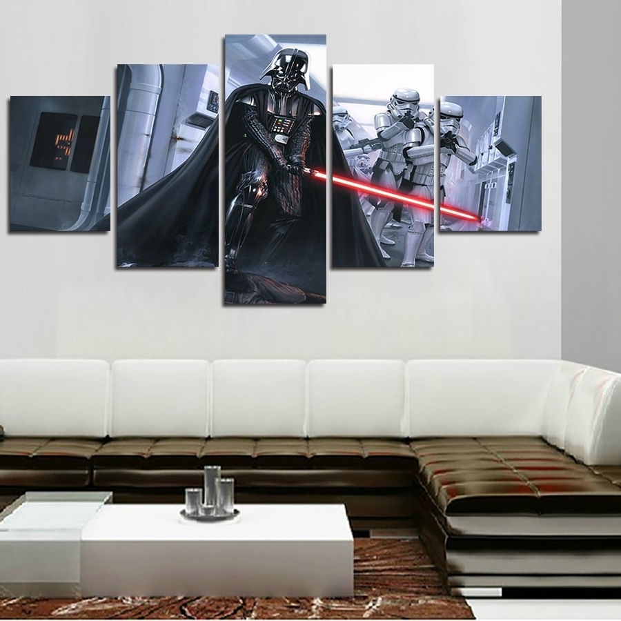 Darth Vader Wall Art Inside Latest 2016 Promotion Fallout Wall Art Framed Star Wars Darth Vader (Gallery 2 of 20)