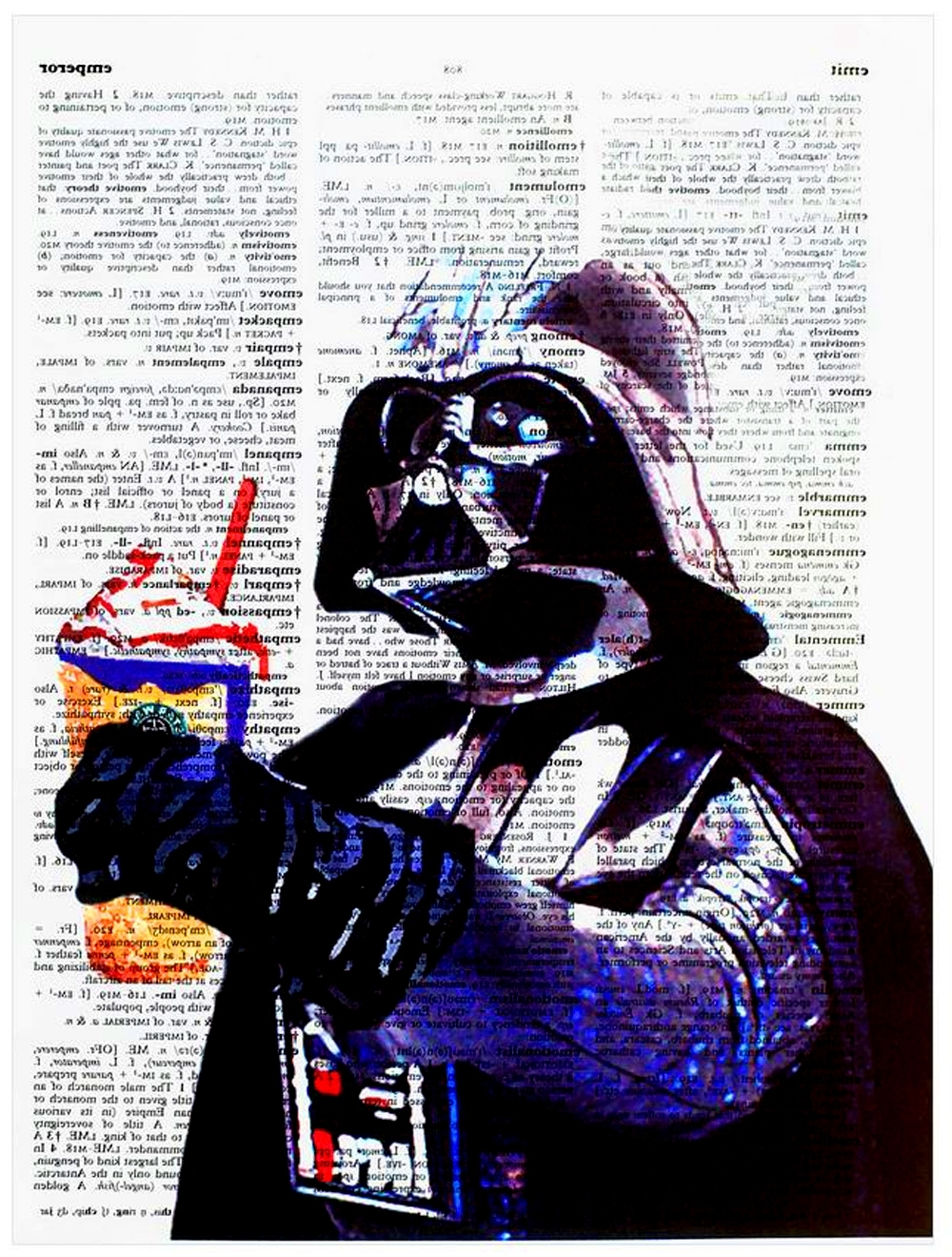 "Darth Vader Wall Art Regarding Newest Art N Wordz Star Wars Darth Vader ""may The Froth Be With You (View 7 of 20)"