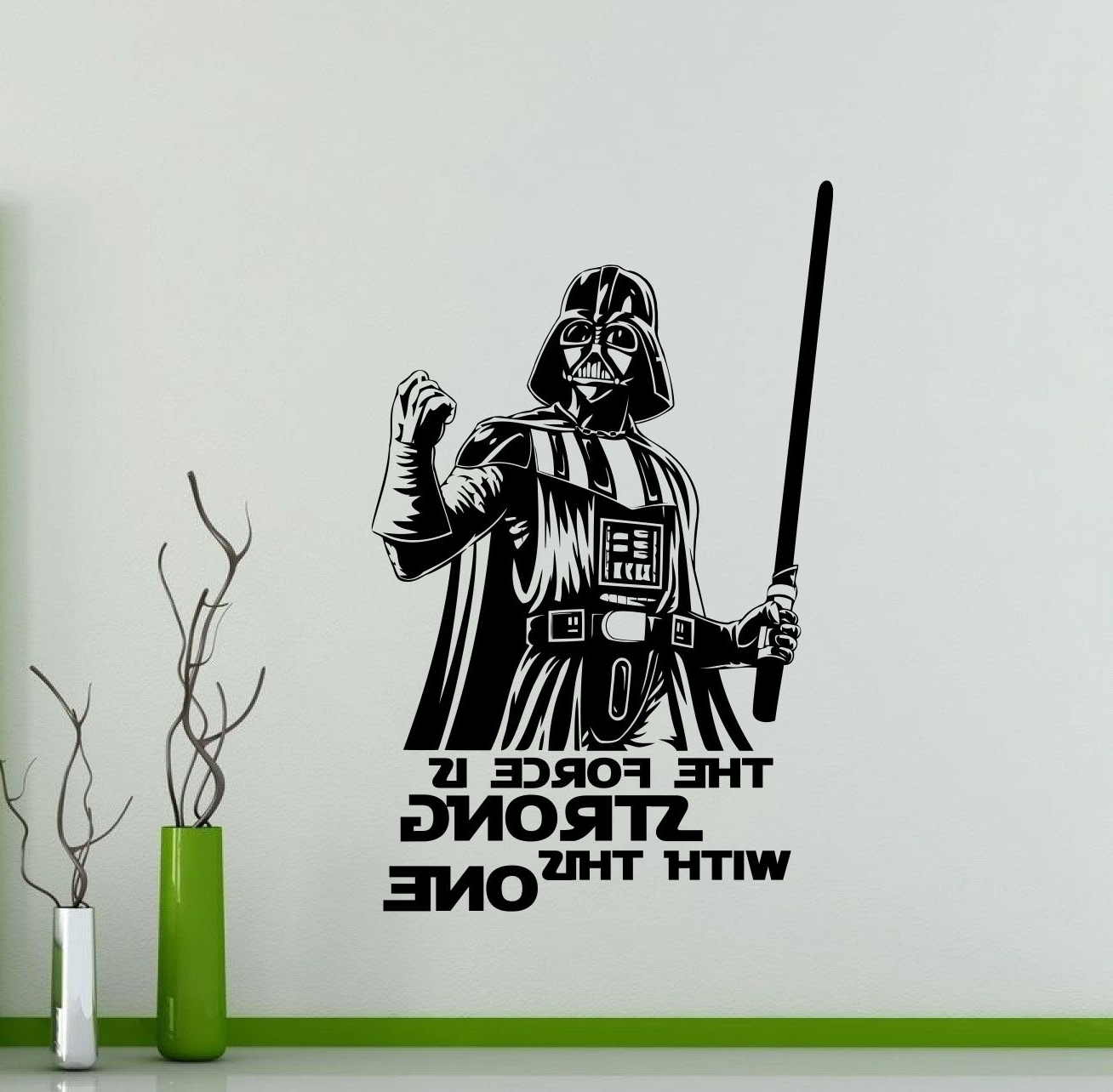 Darth Vader Wall Art With Newest Darth Vader Wall Decal Star Wars Quote Vinyl Sticker The Force (View 8 of 20)