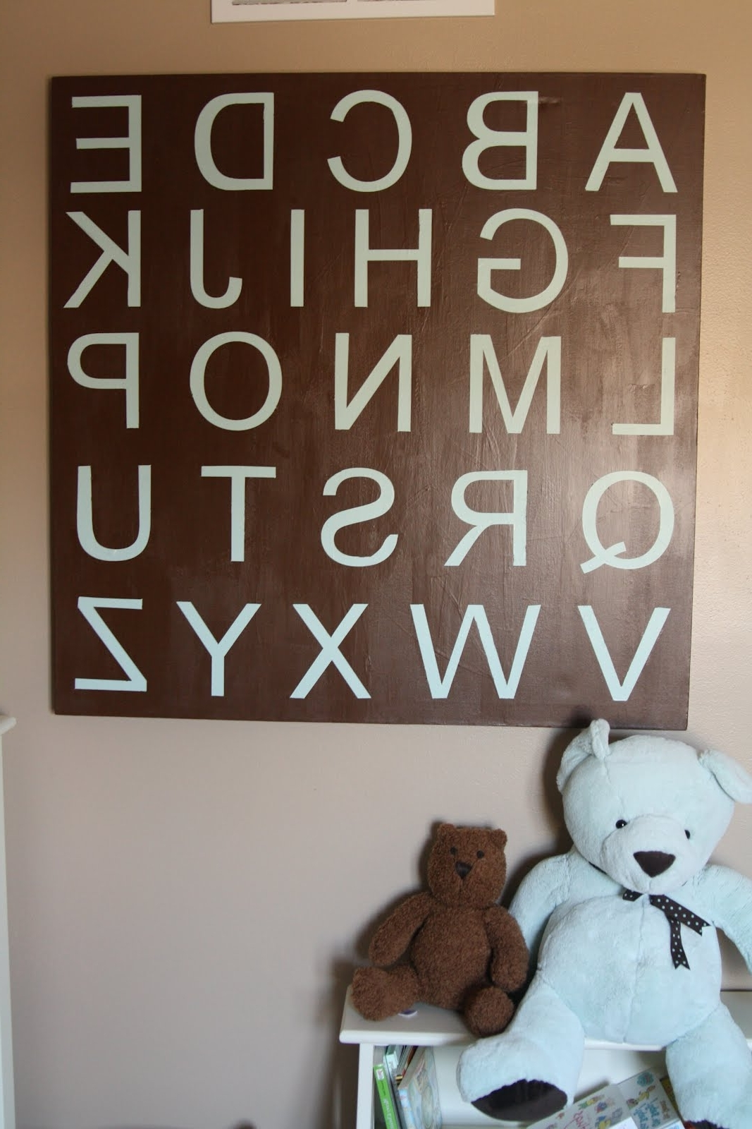 Decorating The Dorchester Way: Large Alphabet Wall Art Regarding Favorite Alphabet Wall Art (View 7 of 20)