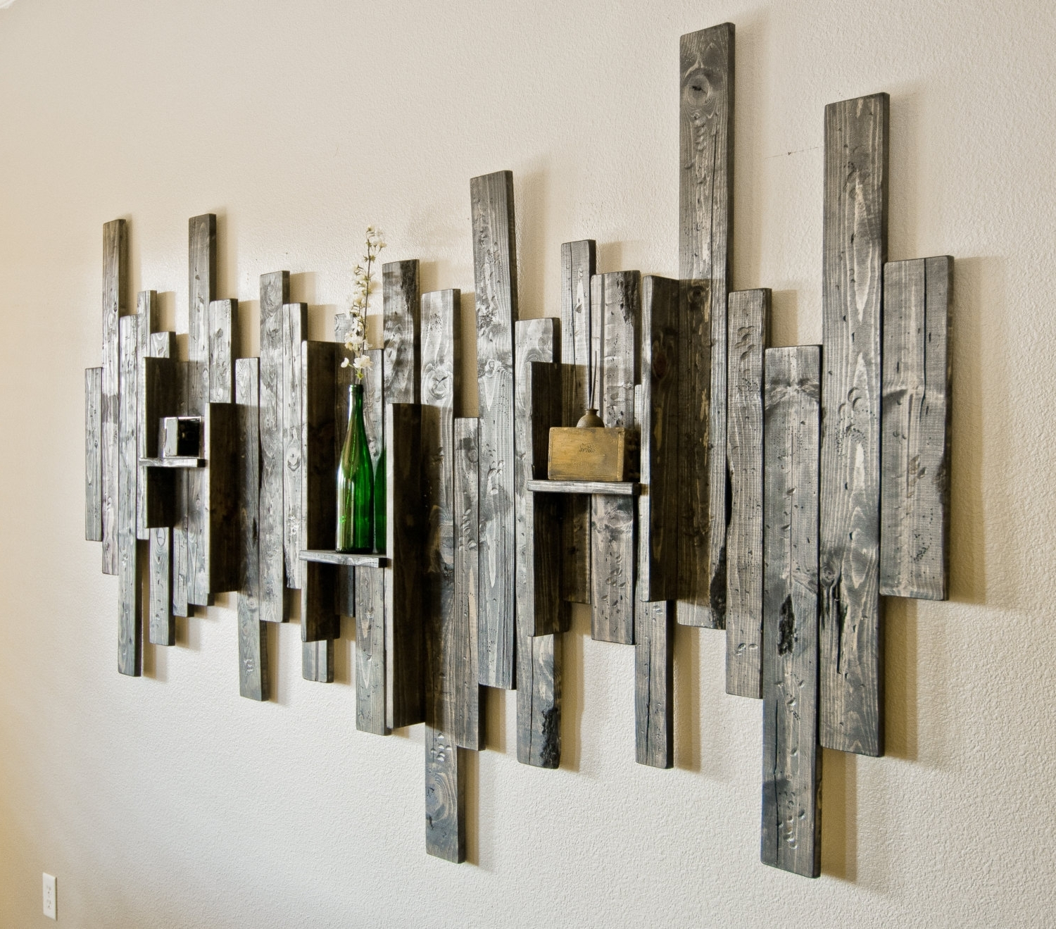 Decorative Wall Art Inside Most Popular Rustic Wood Plank Wall Art : Andrews Living Arts – Create Different (View 3 of 20)