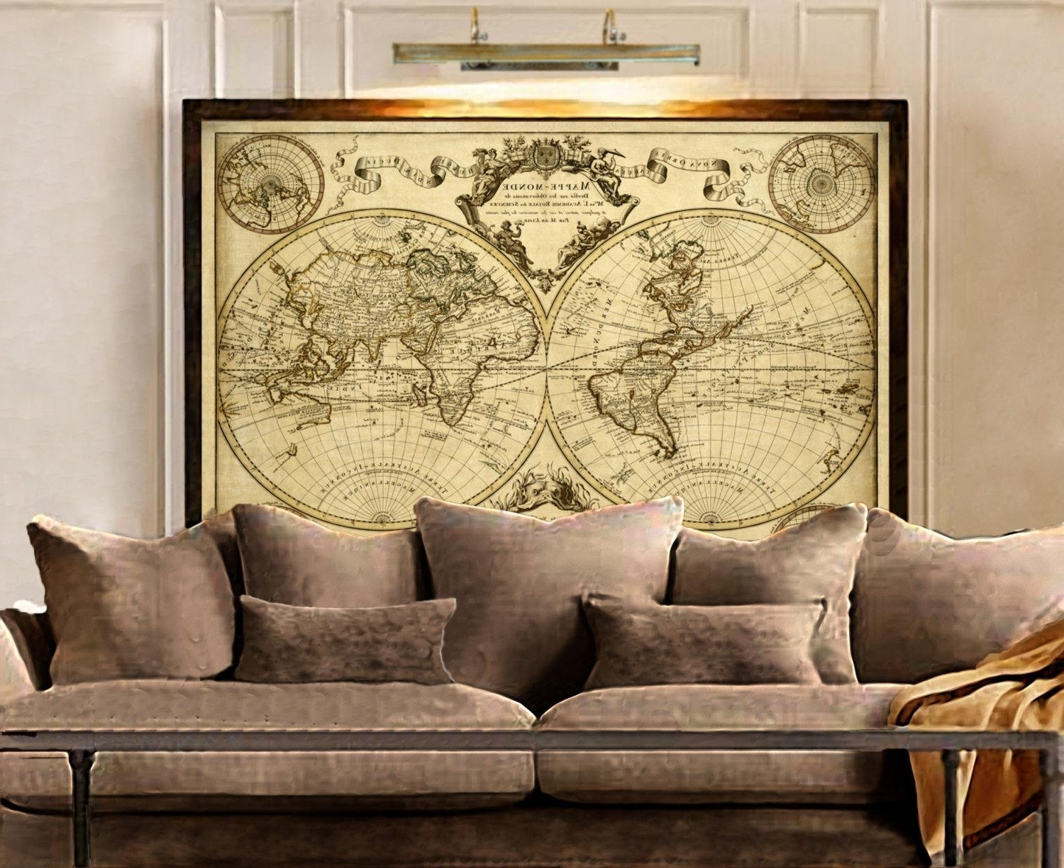 Featured Photo of World Map Wall Art Framed
