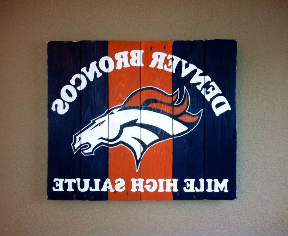 Denver Broncos Mile High Salute Wall Artkristalianedesigns In 2017 Broncos Wall Art (View 10 of 20)