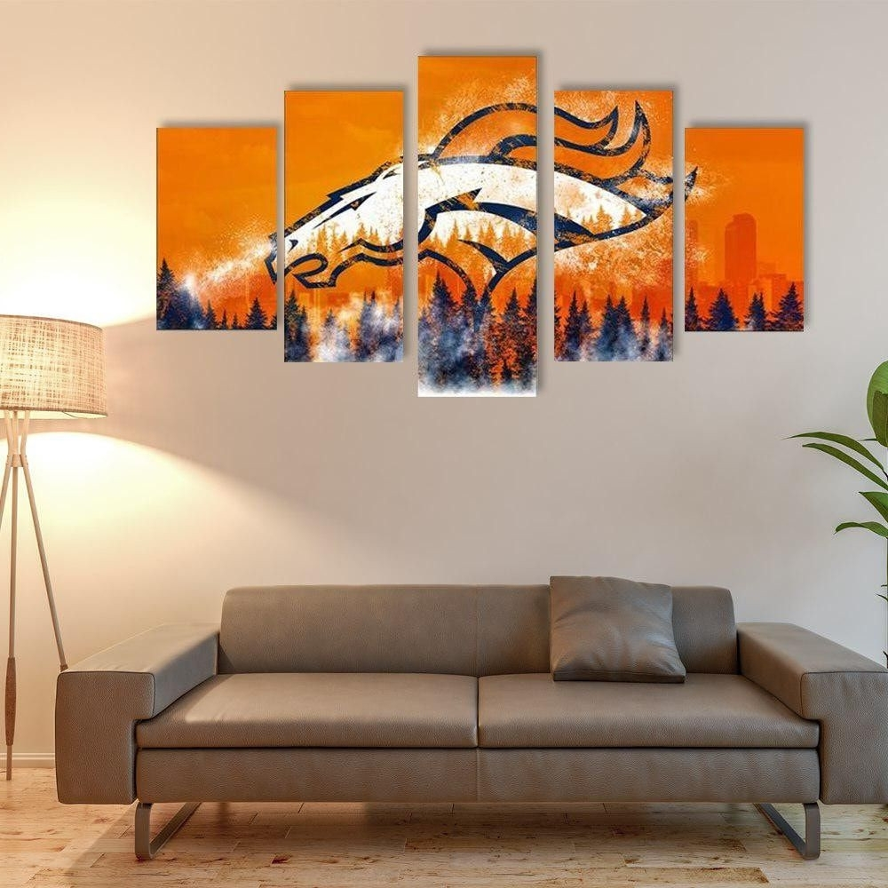 Denver Broncos Room Decor New Denver Broncos Canvas Jersey Wall Art Inside Widely Used Broncos Wall Art (View 8 of 20)