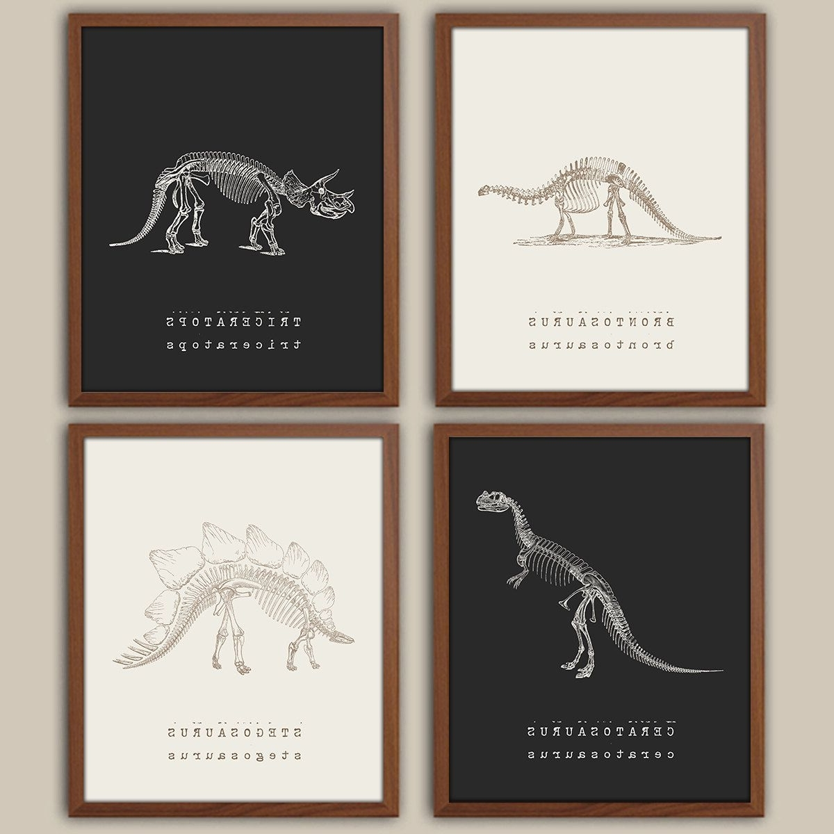 Dinosaur Wall Art – Kids Dinosaur Art – Baby Boy Nursery Art Inside Trendy Dinosaur Wall Art (View 5 of 20)