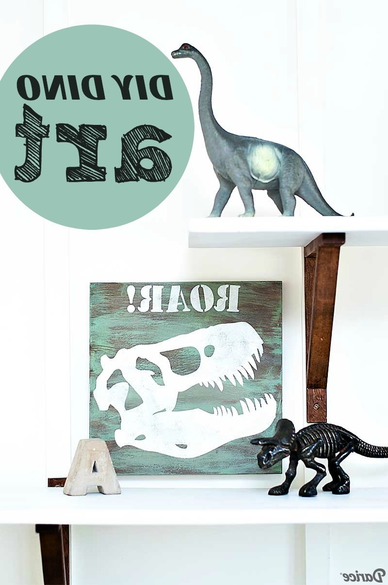 Dinosaur Wall Art Throughout 2018 Diy Dino Art Tutorial For Kid's Room Decor – Darice (View 10 of 20)