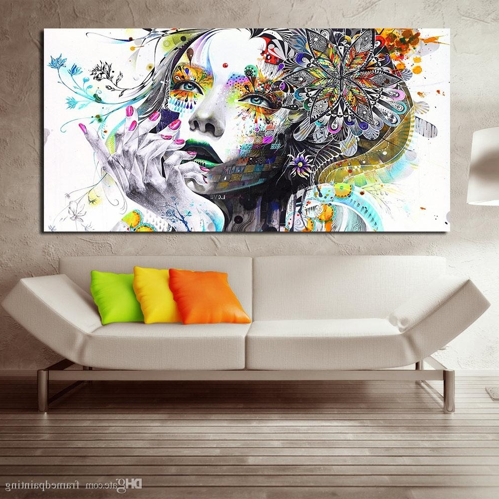 Discount Wall Art Intended For Widely Used Discount Wall Art Girl With Flowers Oil Painting Poster And Prints (Gallery 12 of 20)