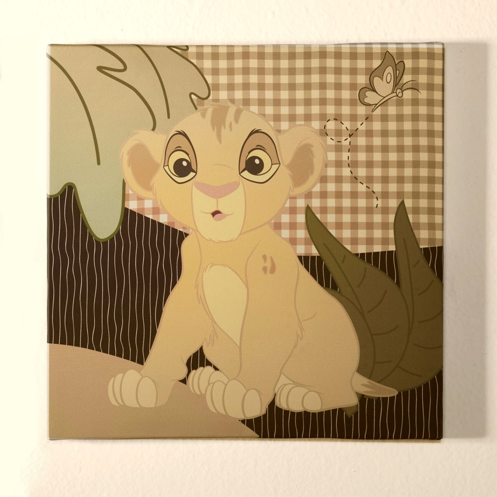 Disney Baby Intended For Trendy Lion King Wall Art (Gallery 19 of 20)