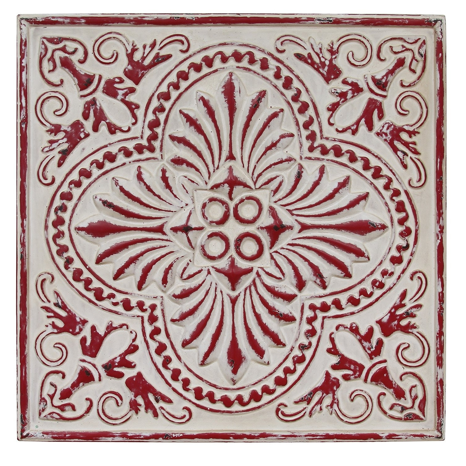 Distressed Square Medallion Spectacular Medallion Wall Art – Prix With Most Recent Medallion Wall Art (View 13 of 20)