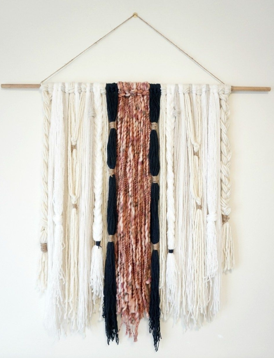 Diy: Modern Boho Yarn Wall Hanging (View 5 of 20)