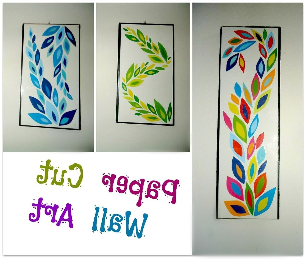 Diy Paper Cut Wall Art: 6 Steps (With Pictures) Intended For Trendy Paper Wall Art (View 20 of 20)