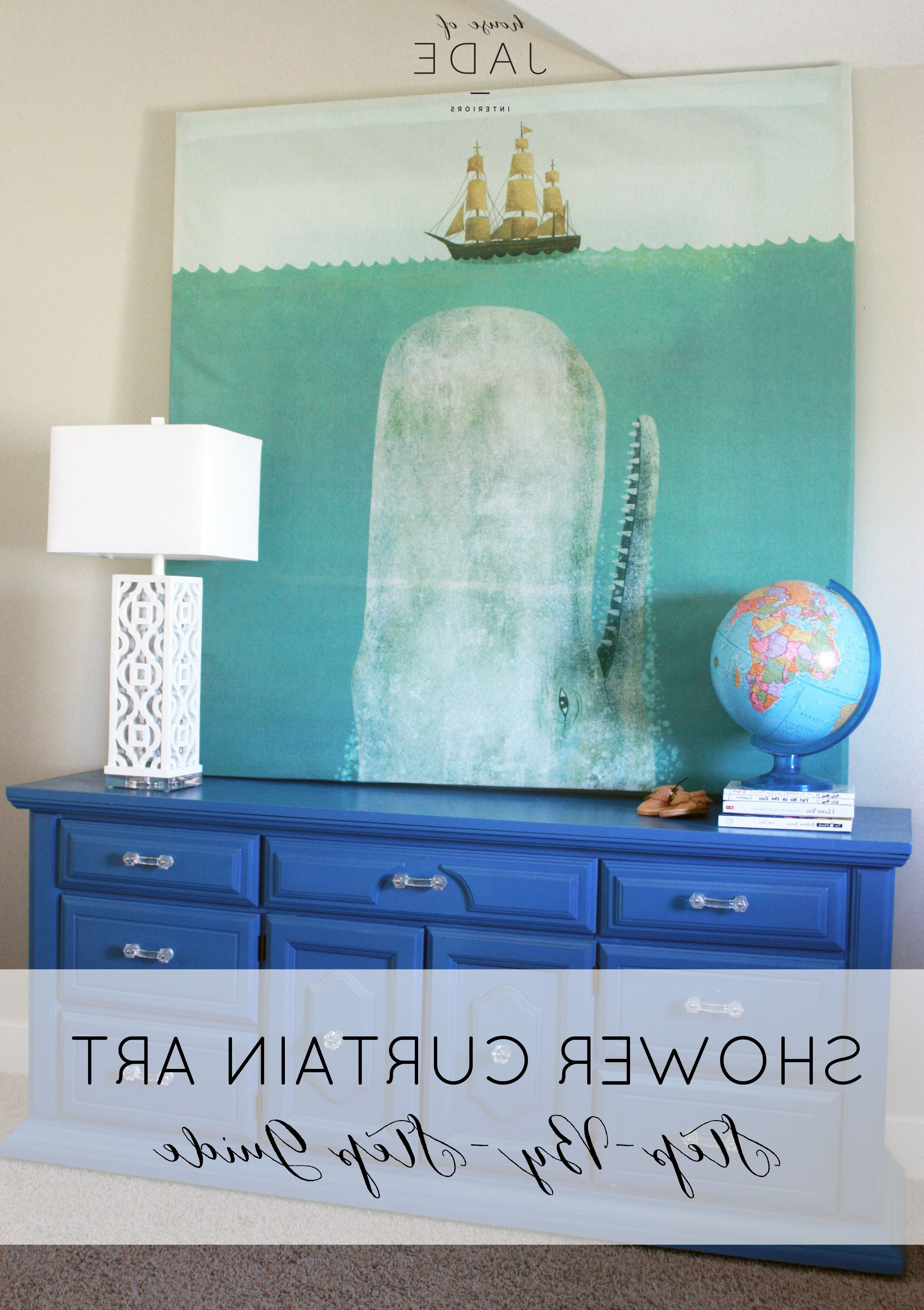 Diy Shower With Latest Shower Curtain Wall Art (Gallery 6 of 20)