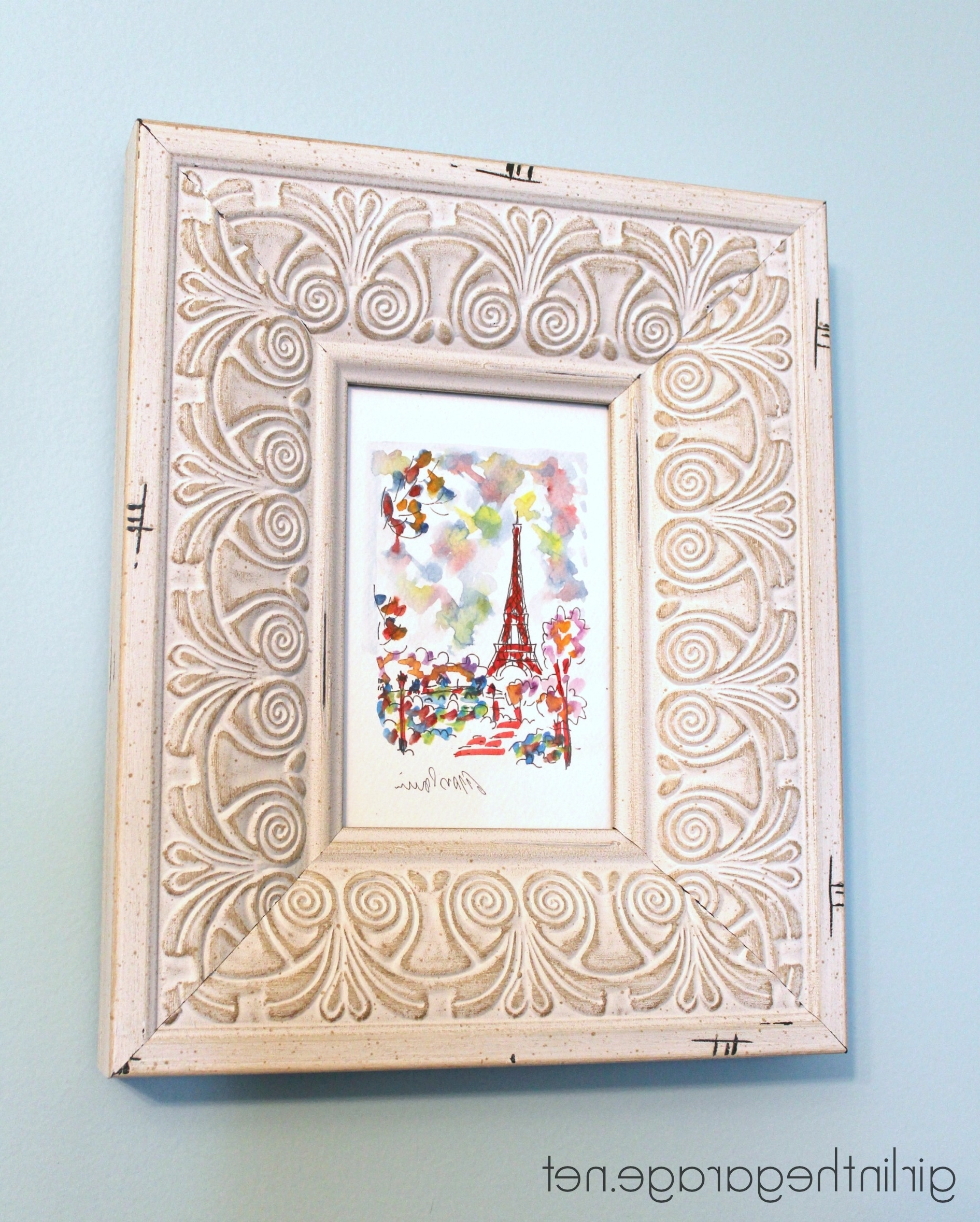 Diy Wall Art: Framed Paris Prints And Anthropologie Inspired Bonjour Regarding Well Liked Anthropologie Wall Art (View 5 of 20)