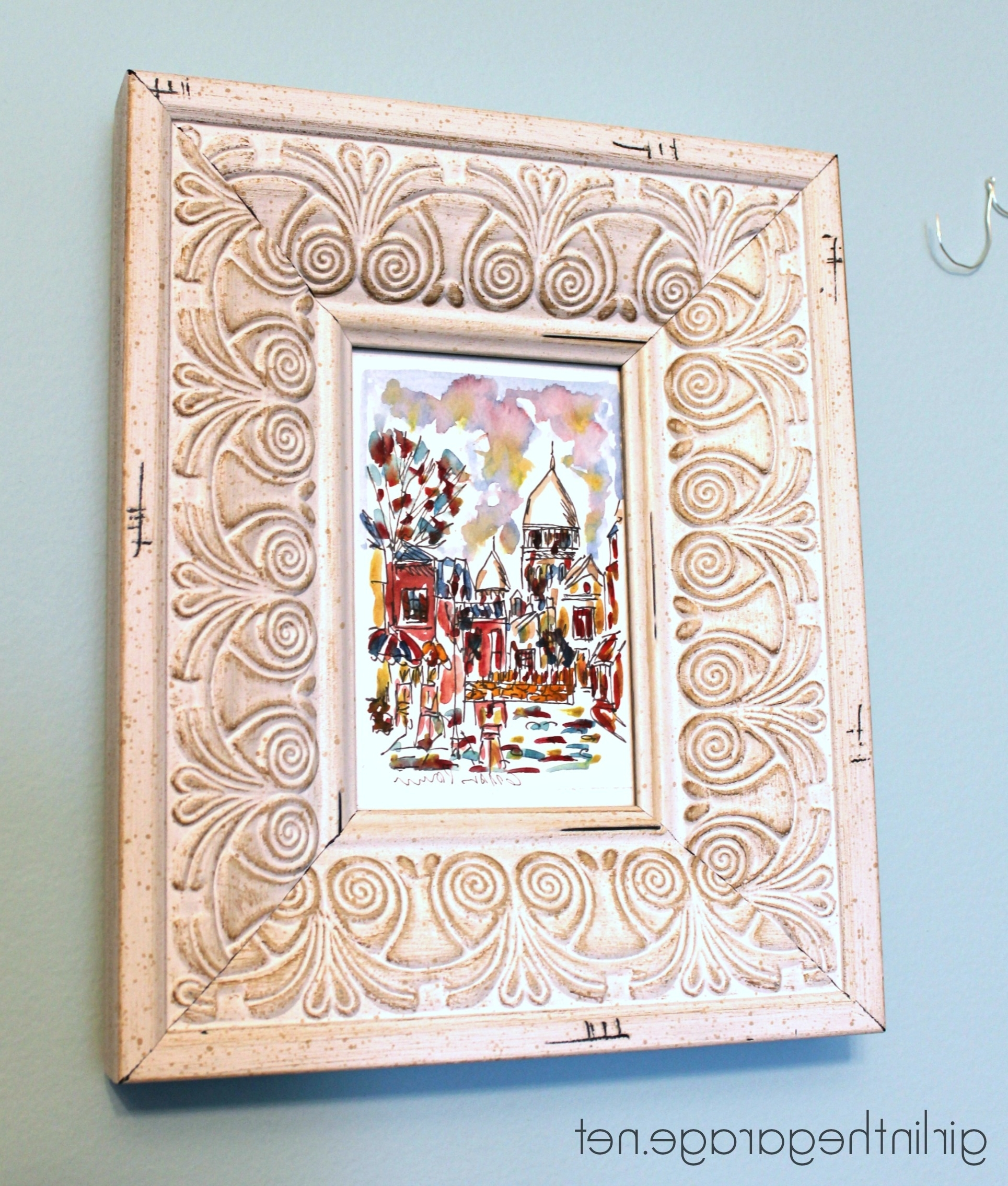 Diy Wall Art: Framed Paris Prints And Anthropologie Inspired Bonjour With Recent Anthropologie Wall Art (View 6 of 20)