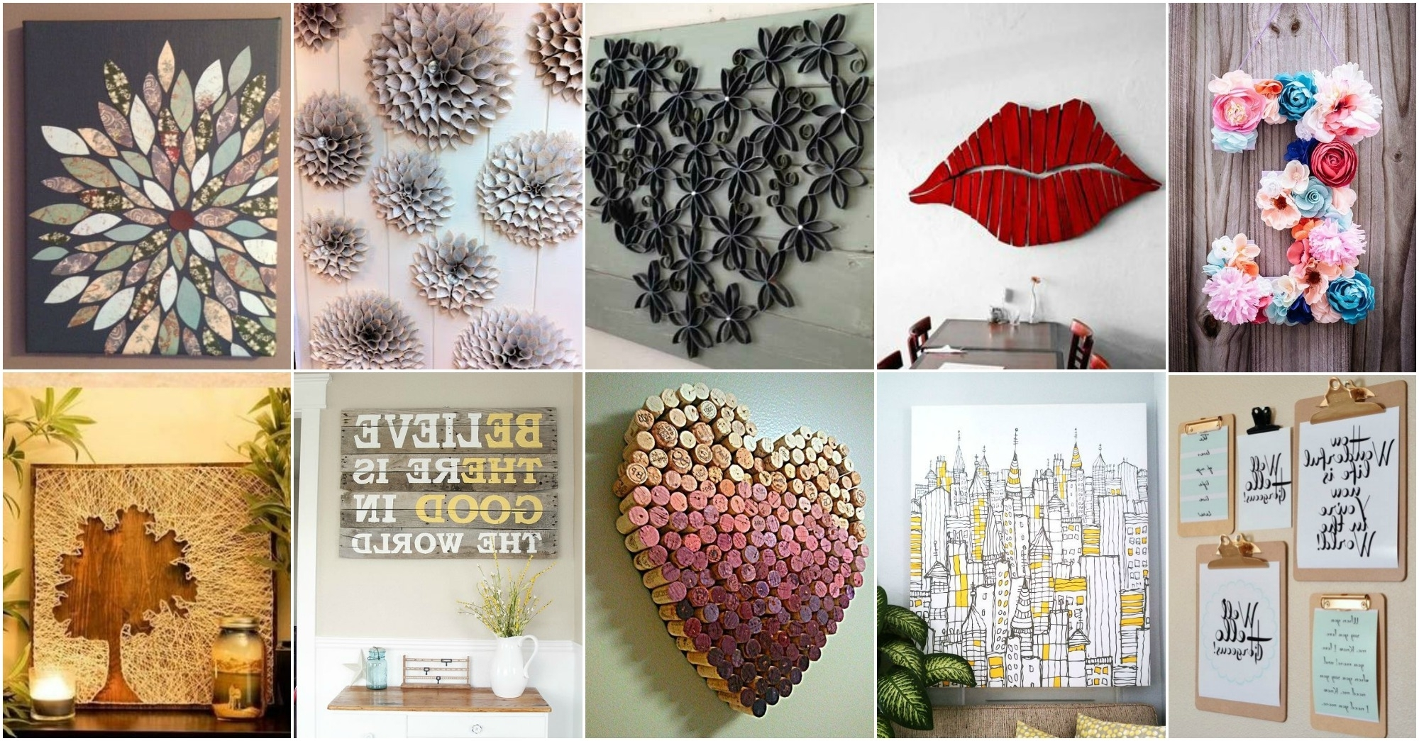 Diy Wall Art Projects With Trendy More Amazing Diy Wall Art Ideas (Gallery 2 of 20)