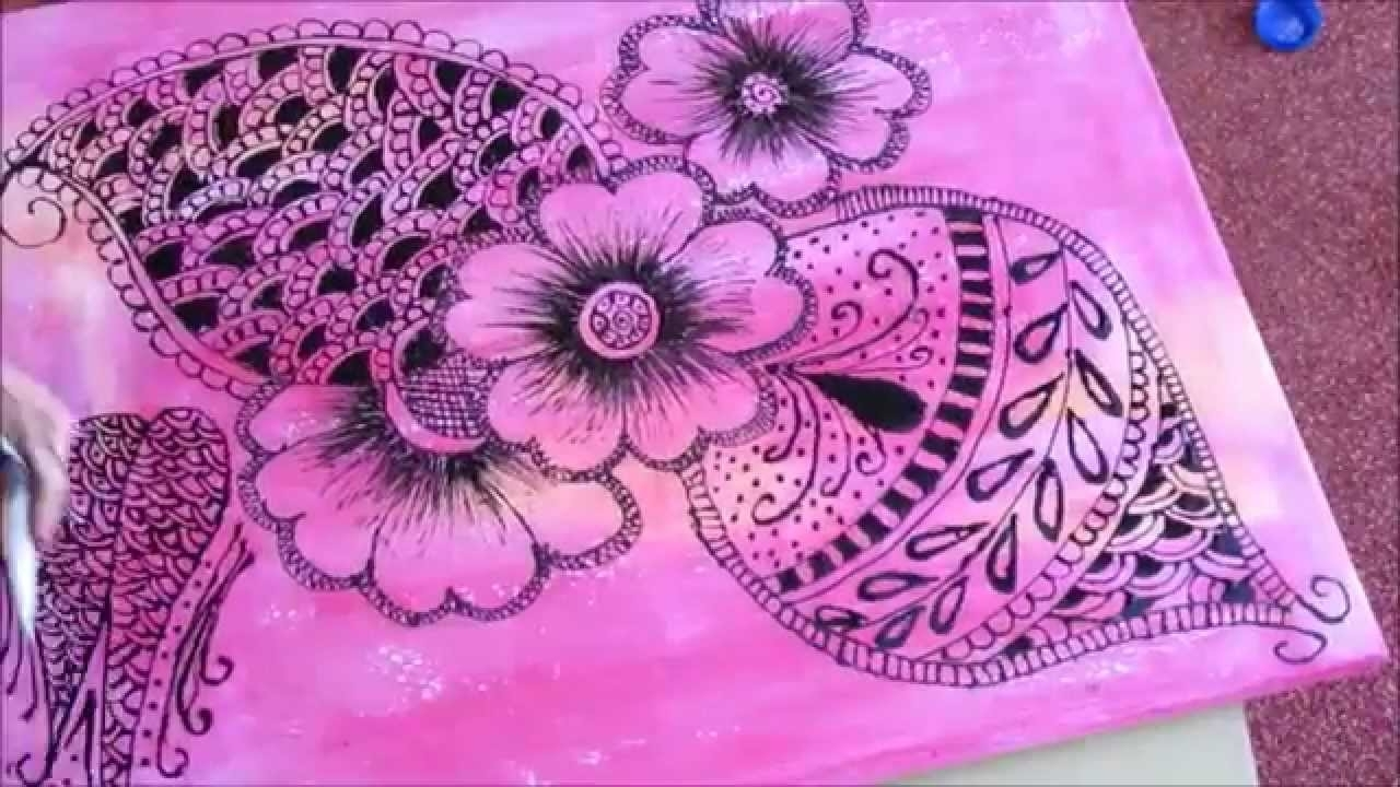 Diy Wallart .. Henna Design . (View 4 of 20)