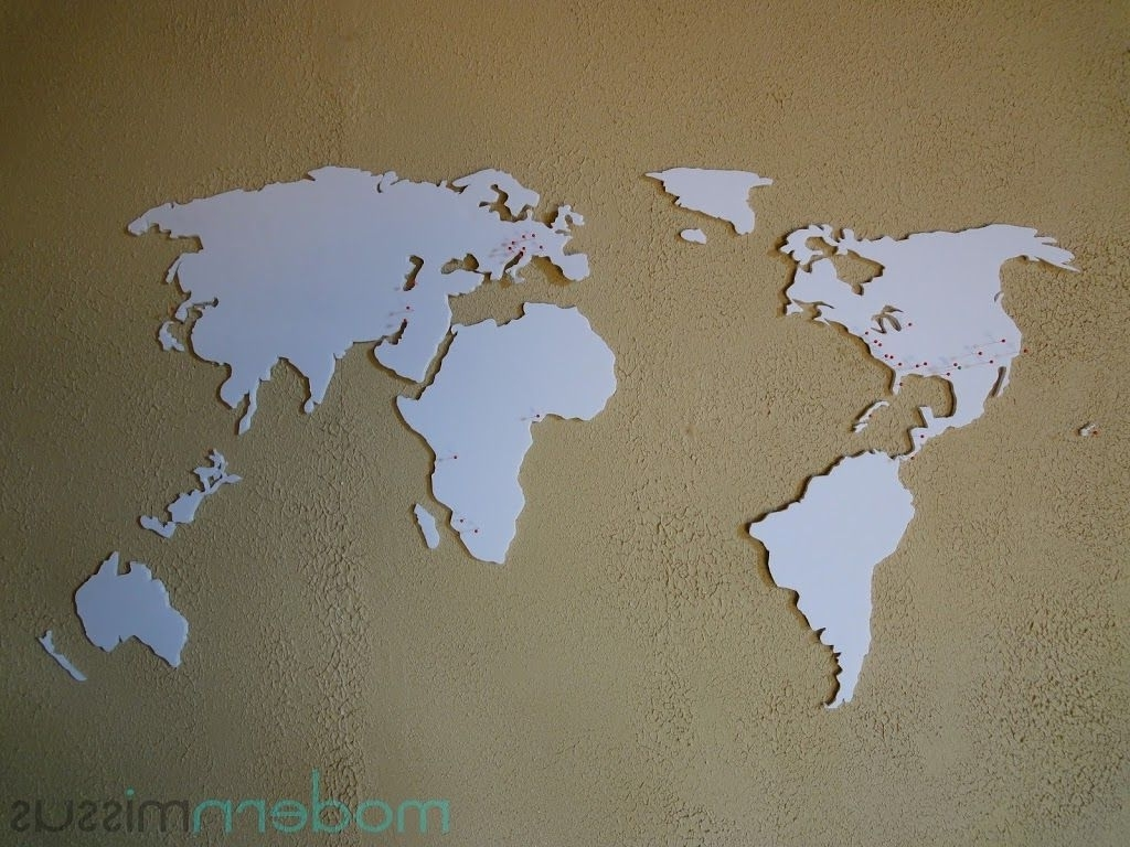 Diy World Map Wall Art In Latest Diy World Map Wall Art – Modern Missus (View 3 of 20)