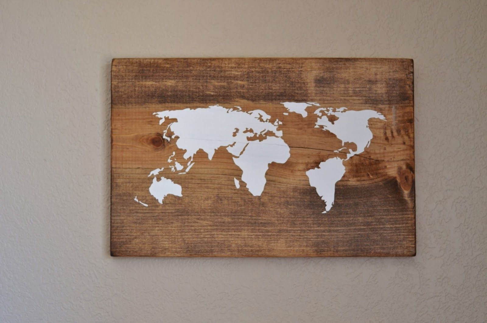 Diy World Map Wall Art Throughout Most Recent All Things Bright And Beautiful: Diy World Map Wall Art – Very Cool (Gallery 3 of 20)