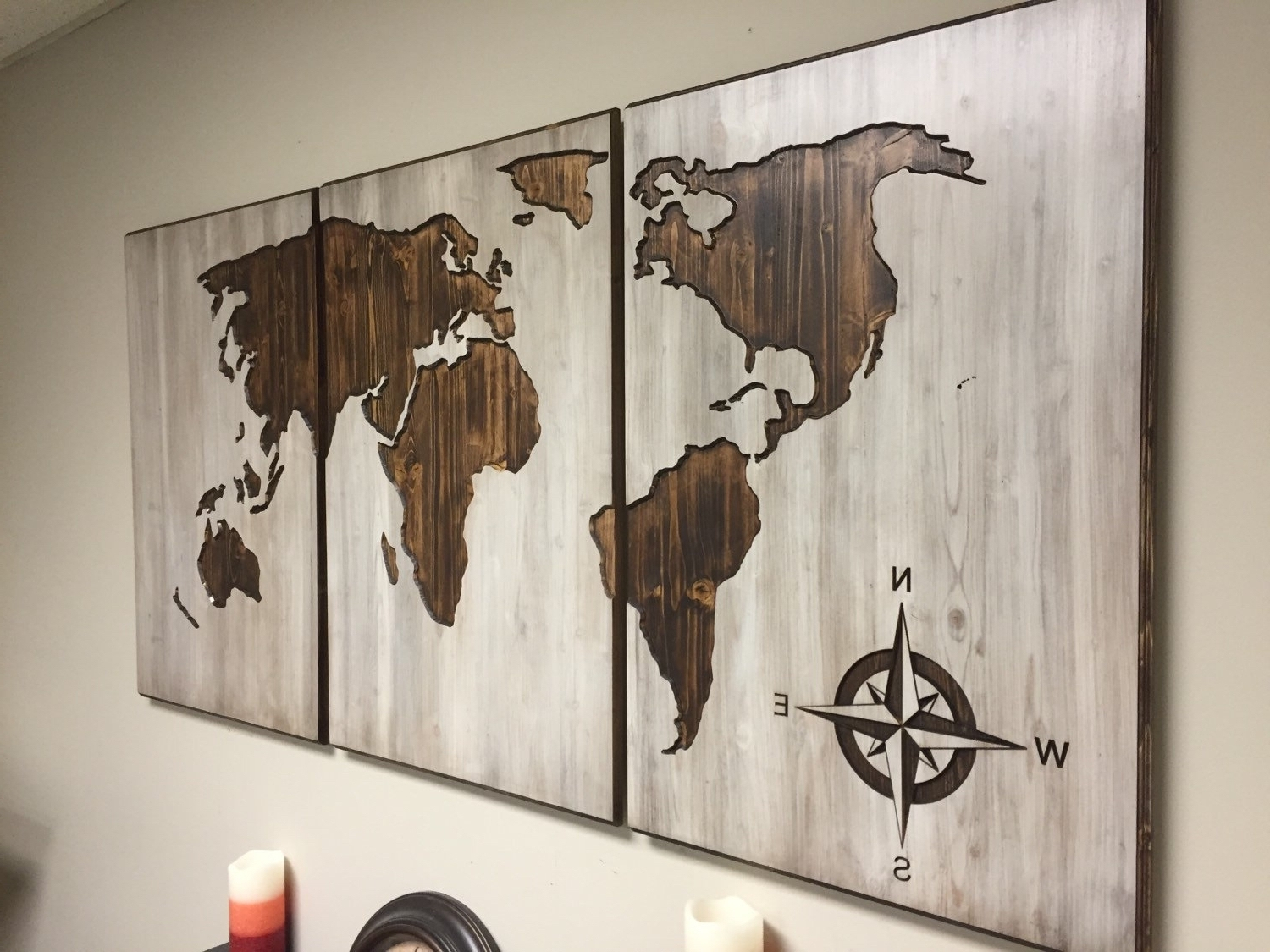 Diy World Map Wall Art Throughout Most Recent Diy World Map Wall Decor – Arabcooking (Gallery 14 of 20)