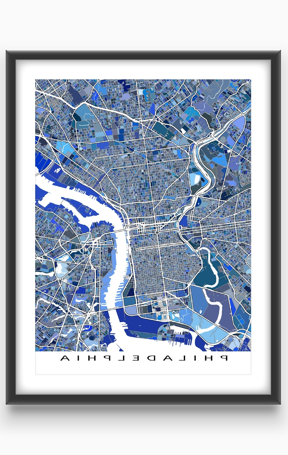 Do You Love Philadelphia Pennsylvania? Then This Philadelphia Map In 2018 Philadelphia Map Wall Art (View 5 of 20)