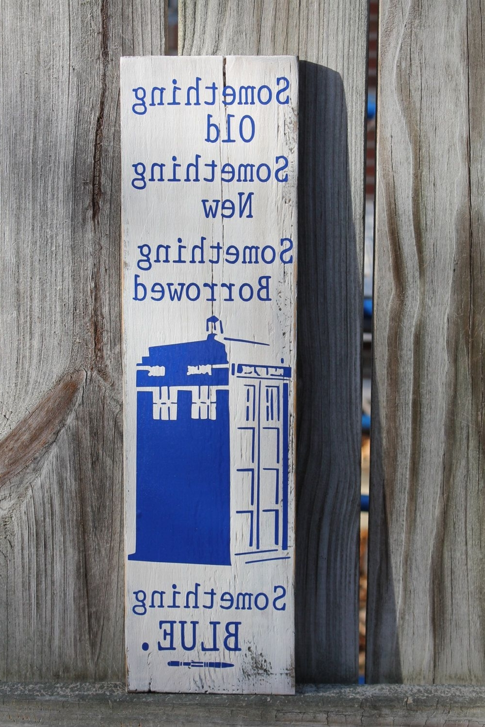 Doctor Who Wall Art For 2017 Something Old New Borrowed Blue Tardis Doctor Dr Who Sonic (View 3 of 15)