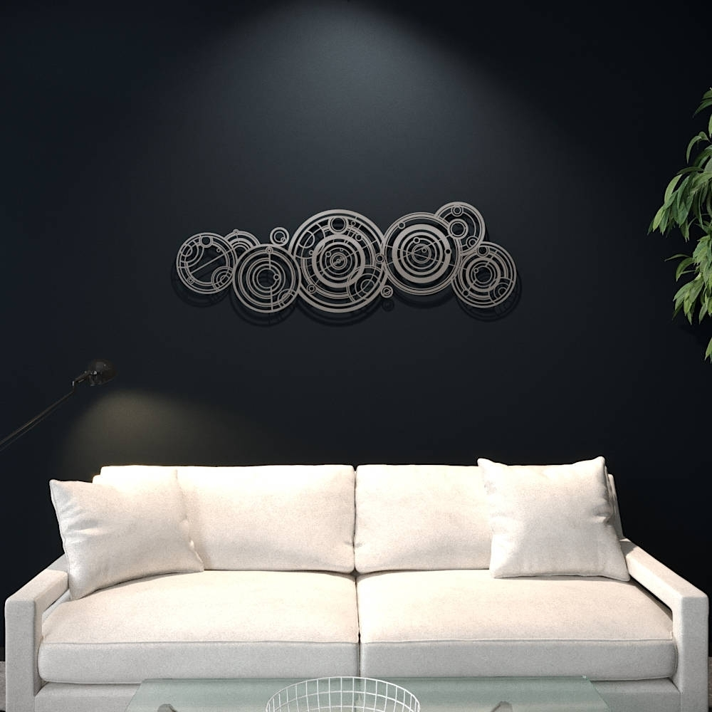 Doctor Who Wall Art Intended For Well Liked Xl Doctor Who Gallifreyan Large Metal Wall Art, Science Wall Decor (Gallery 3 of 15)