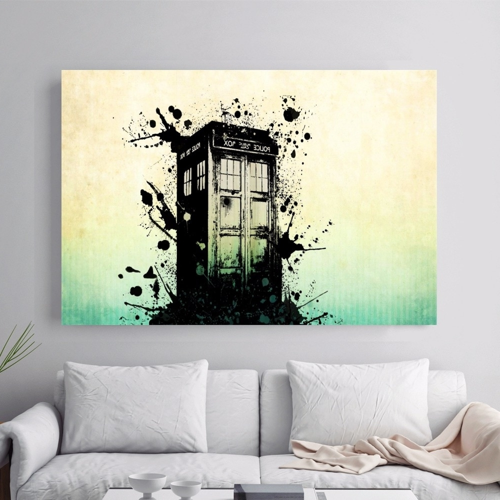 Doctor Who Wall Art With Popular Doctor Who Police Box Artwork Canvas Art Print Painting Poster Wall (Gallery 2 of 15)