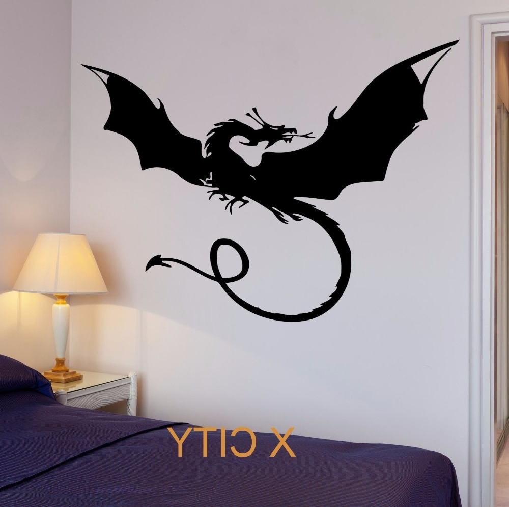 Dragon Myth Movie Fantasy Monster Cool Kid Bedroom Wall Art Decal Throughout 2018 Dragon Wall Art (View 5 of 20)