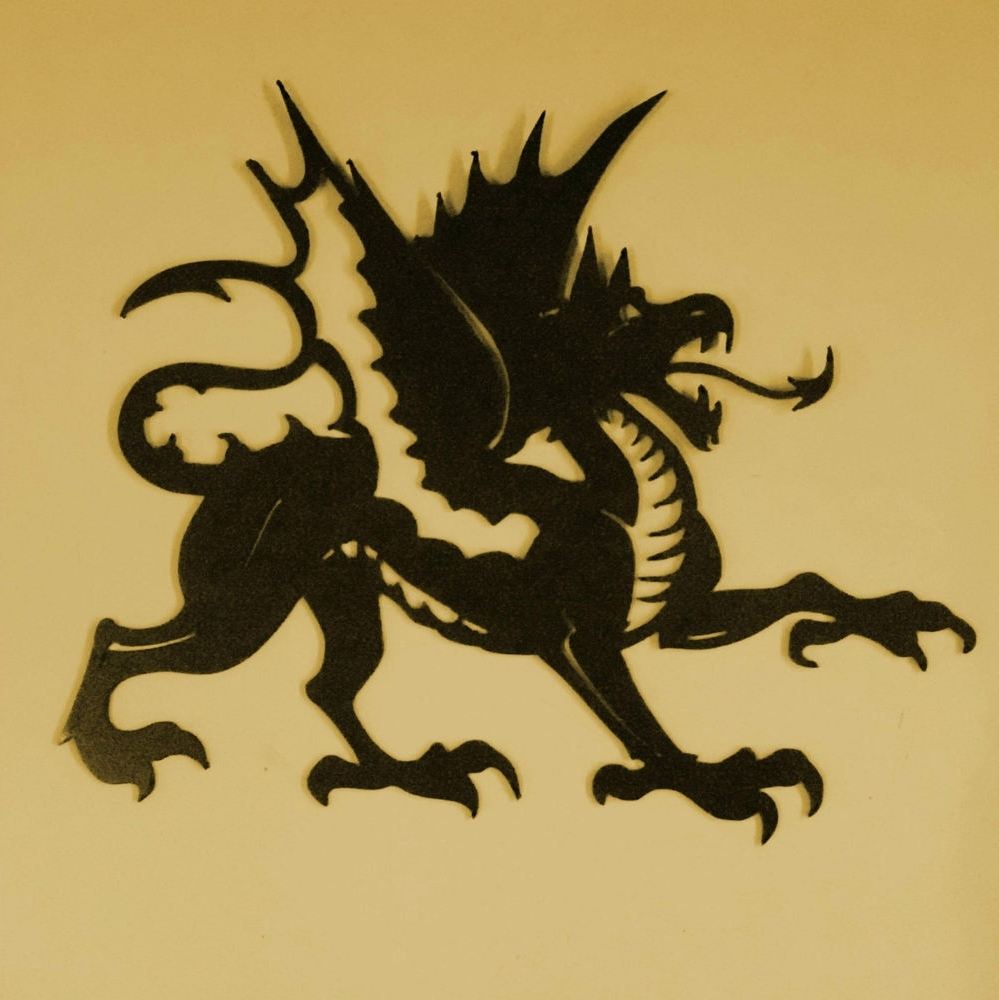 Dragon,mythology,reptile,monster,wings,metal Art,tattoo,wall Decor Within Famous Dragon Wall Art (View 11 of 20)