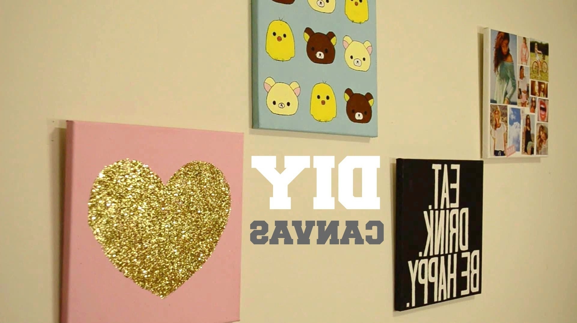 ✂ Diy Wall Decor: Custom Canvas – Youtube In Preferred Diy Wall Art (View 14 of 15)