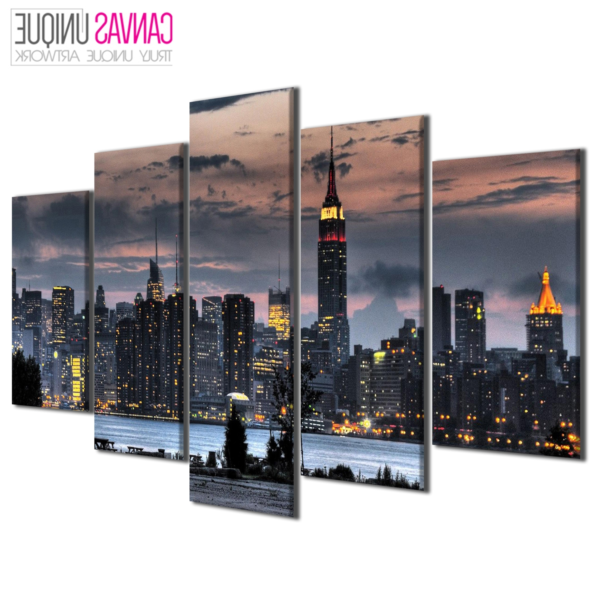 Ebay Pertaining To Famous New York Canvas Wall Art (View 3 of 15)