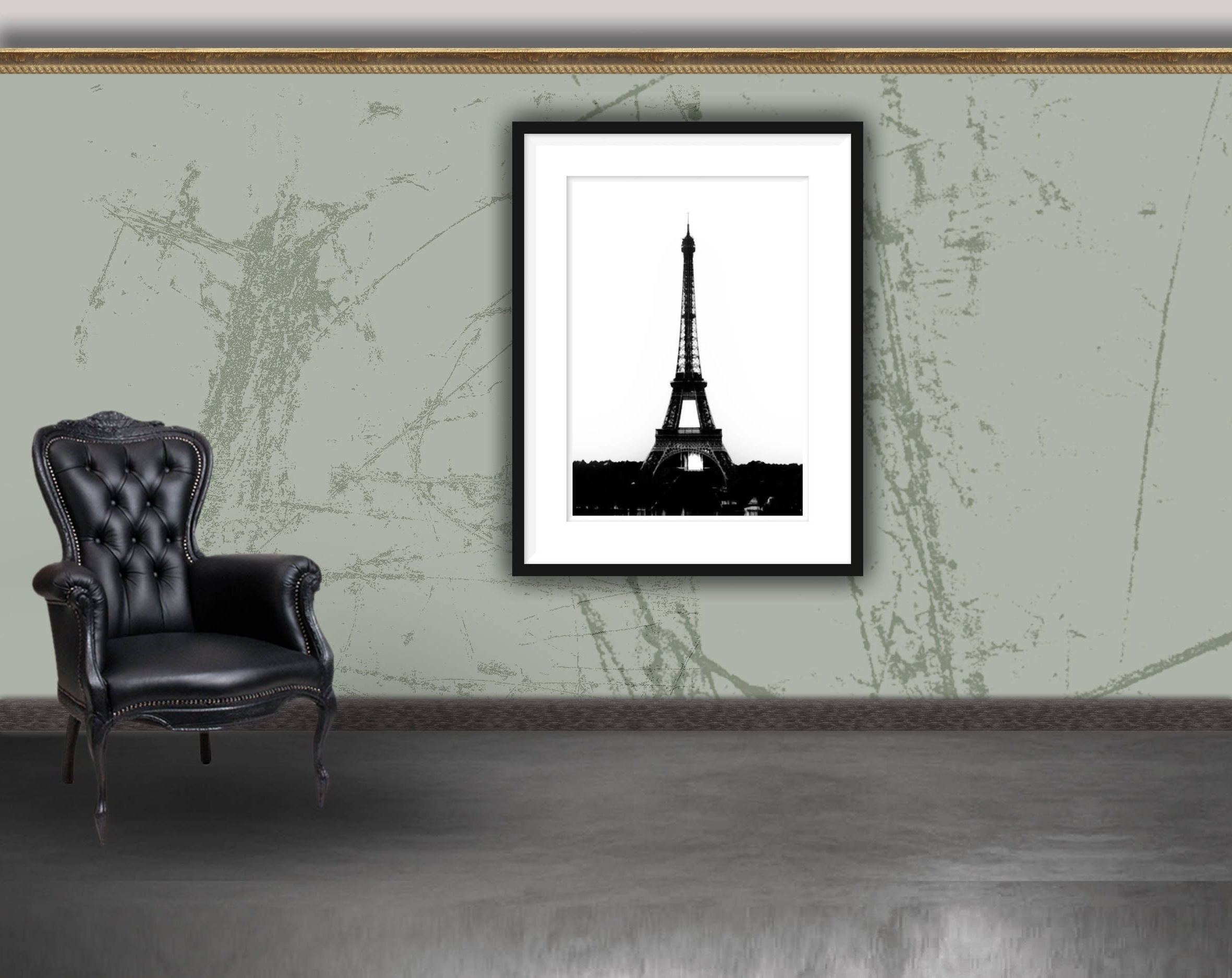 Eiffel Tower Print (View 8 of 15)