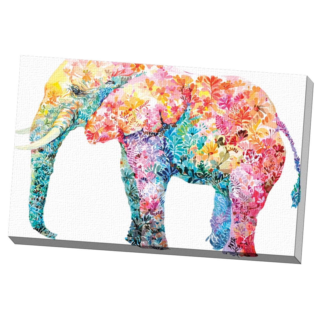 Elephant Canvas Wall Art In Newest Shop Portfolio Canvas Decor Maria Varela 'elephant Gum' Framed (Gallery 9 of 20)