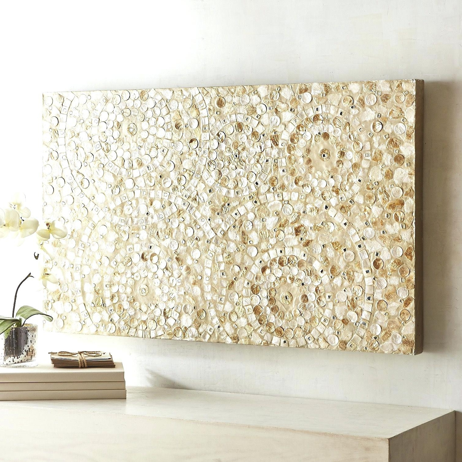 Enjoyable Design Ideas Capiz Wall Art Com Shell Fish Bowl Flower Inside Well Liked West Elm Wall Art (View 18 of 20)