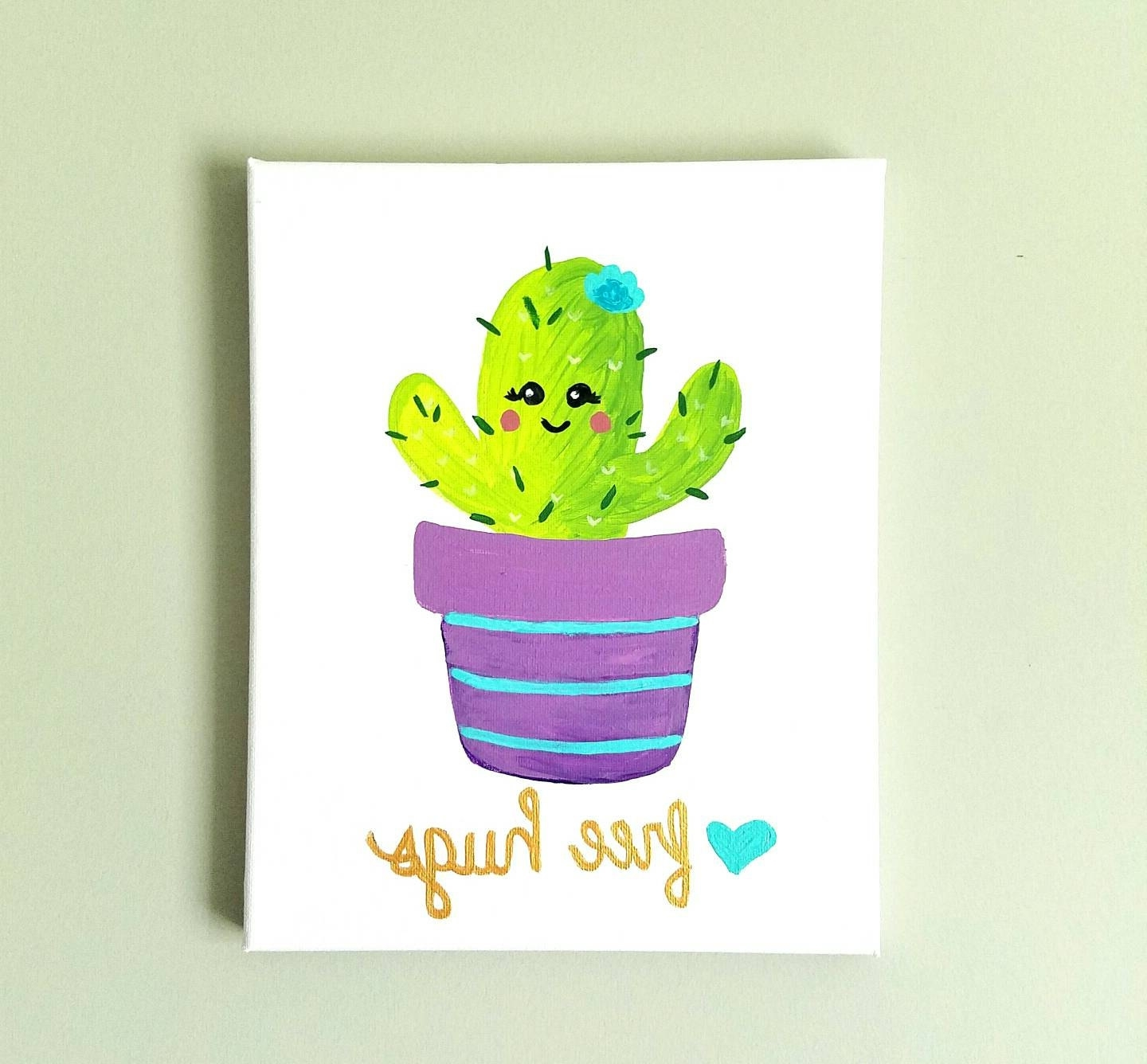 Etsy Regarding Cactus Wall Art (Gallery 2 of 20)